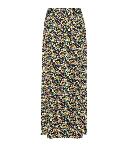 Chieri Printed Silk Maxi Skirt