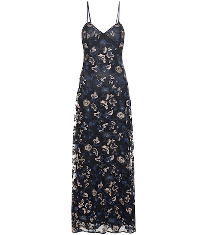 Eva embroidered slip dress