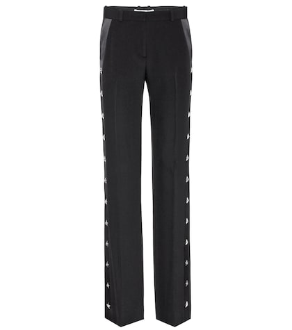 givenchy female embellished crepe trousers