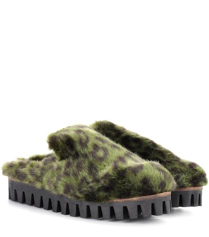 Gregor faux-fur slippers