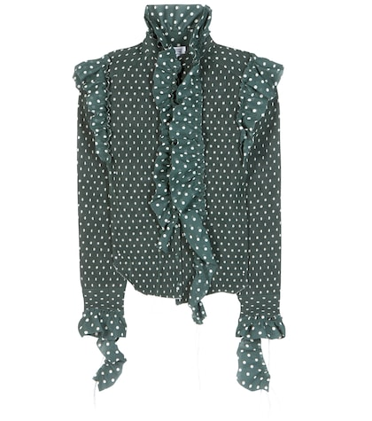 Polka-dot Printed Shirt