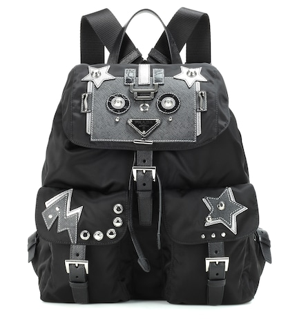 prada female robot backpack