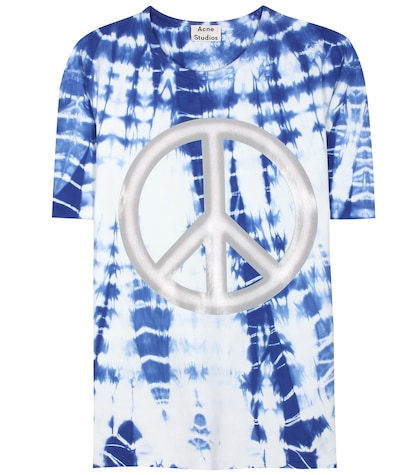 acne studios female niagara peace printed cotton tshirt