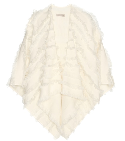 Wool And Cashmere Fil Coupé Cape