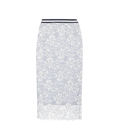 Ayame Embroidered Lace Skirt