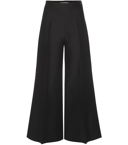 High-waisted Wool-blend Trousers