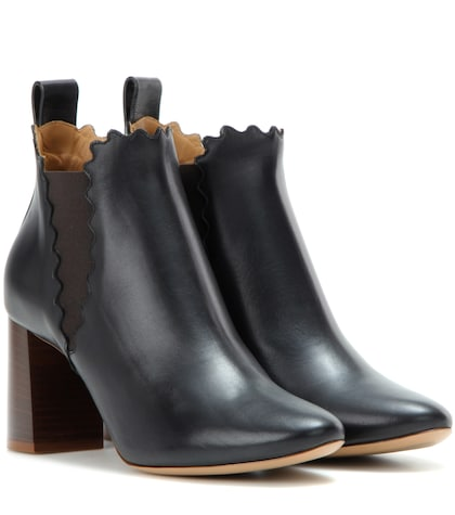 chloe female 188971 lauren leather ankle boots