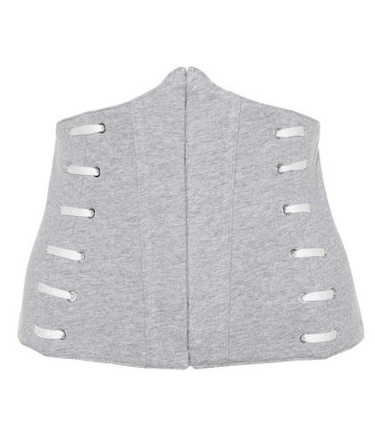 Whipstitch cotton corset