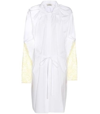 Robe chemise avec finitions en dentelle