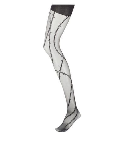 alexander wang female barbed wire tights