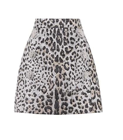 Leopard-printed miniskirt