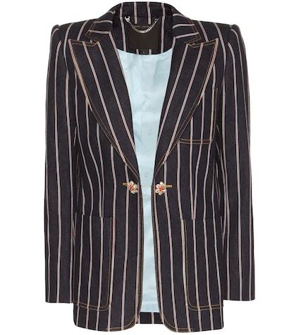 marc jacobs female striped denim blazer