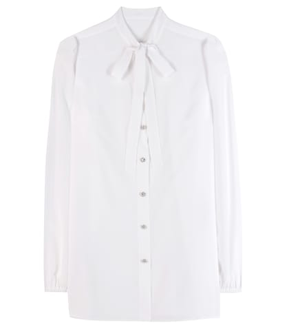 dolce gabbana female embellished silk shirt