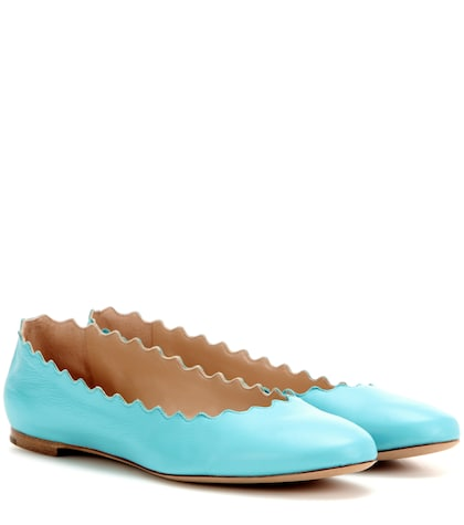 chloe female lauren leather ballerinas