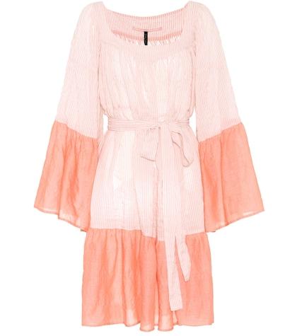 lisa marie fernandez female short peasant cottonblend dress