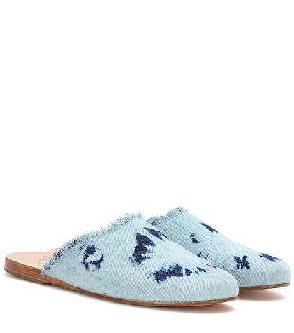 ancient greek sandals female pasoumi denim slippers