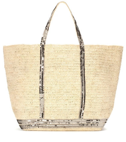 Cabas Grand Embellished Raffia Shopper