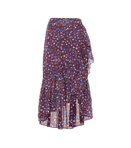 Gretchen cotton and silk-blend skirt