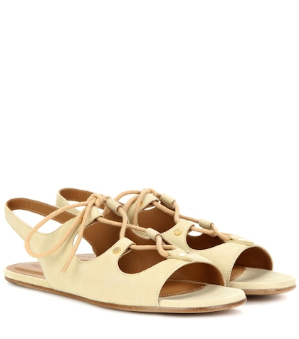 chloe female foster suede sandals