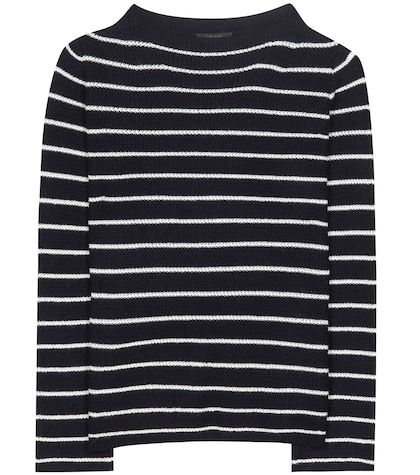 Stretton Striped Cashmere And Silk Sweater