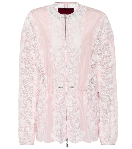 Lace-panelled jacket