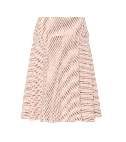 Cotton-blend tweed skirt