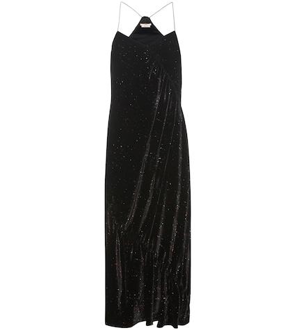 Printed velvet dress