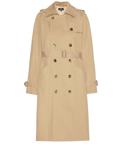 apc female cotton trench coat