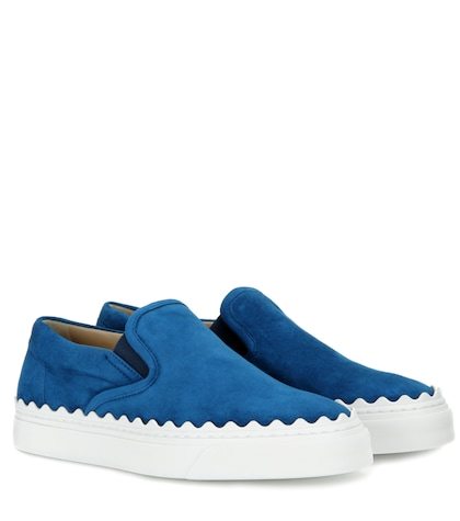 Ivy suede slip-on sneakers