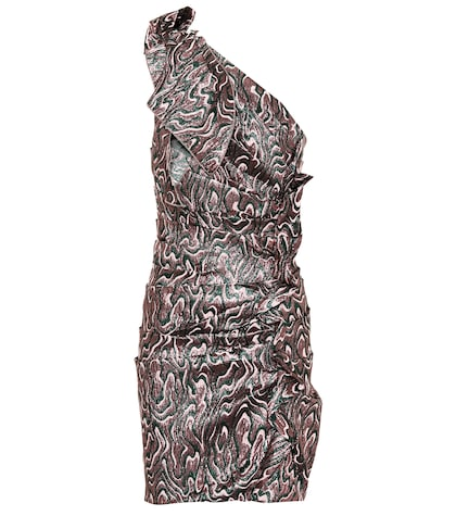 Synee metallic jacquard minidress