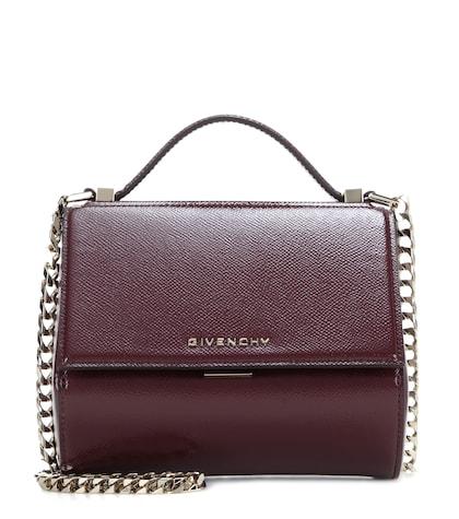 Pandora Box Mini patent leather shoulder bag