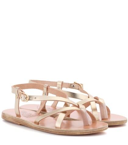 Semele metallic leather sandals