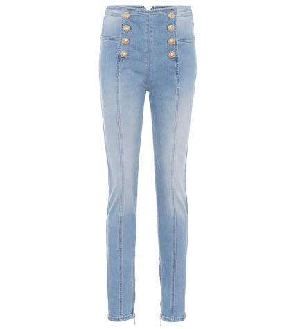 High-wisted skinny jeans