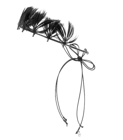 valentino female valentino garavani featherembellished headband