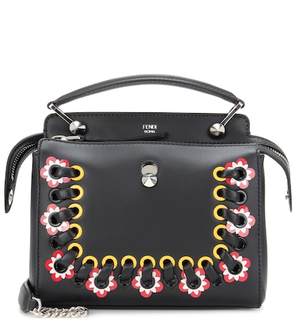 fendi female dotcom leather bag