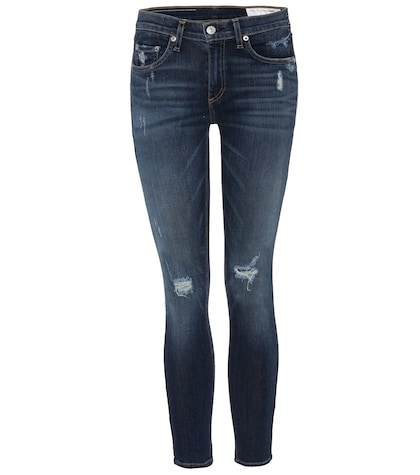 rag bone female capri cropped distressed skinny jeans