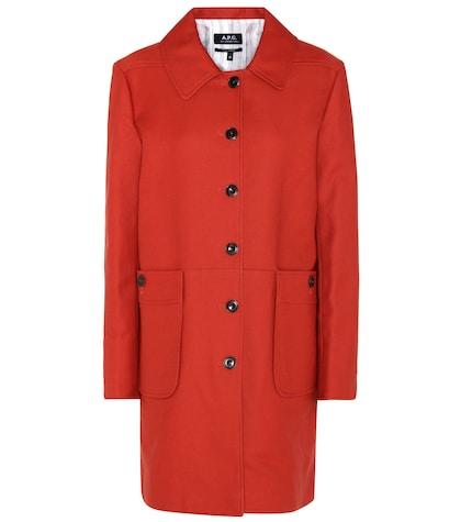 apc female carlotta cottonblend coat