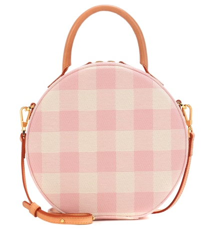 Circle gingham crossbody bag