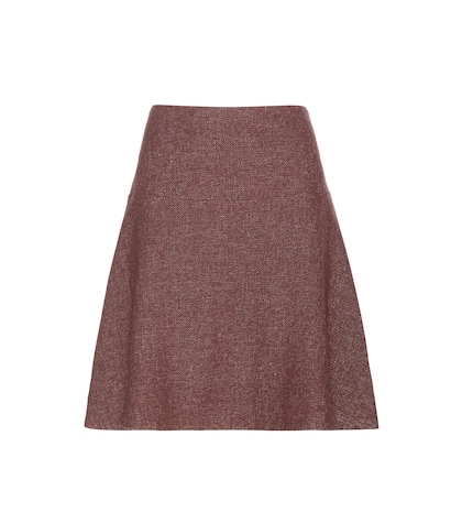 Wool-blend Tweed Skirt