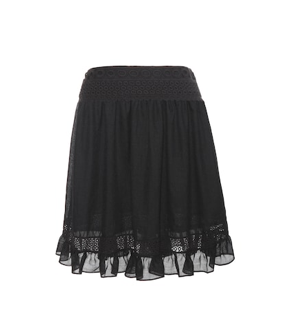 Lace-trimmed Miniskirt
