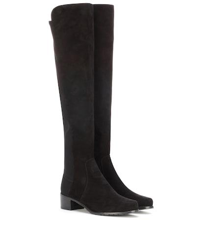 stuart weitzman female reserve suede kneehigh boots