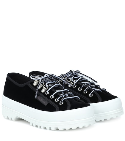 x SUPERGA® Griffith Low velvet sneakers