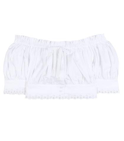 alexander mcqueen female 45883 offtheshoulder cotton cropped top