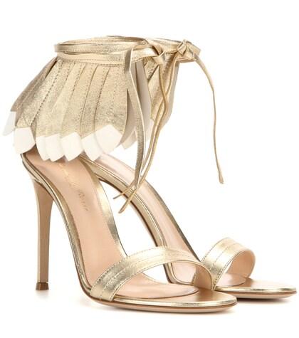 Queen metallic leather sandals
