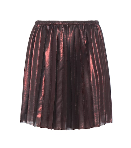 Manda Pleated Metallic Skirt