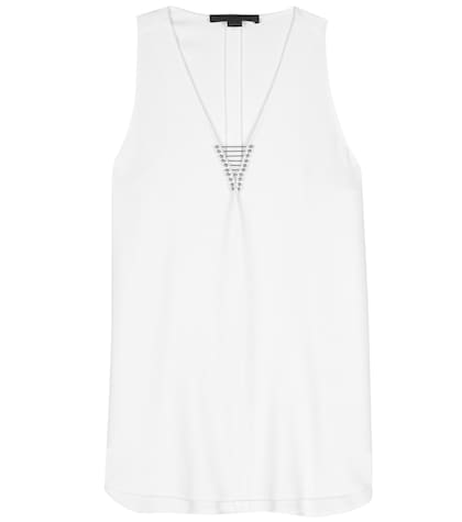 alexander wang female embellished crepe top
