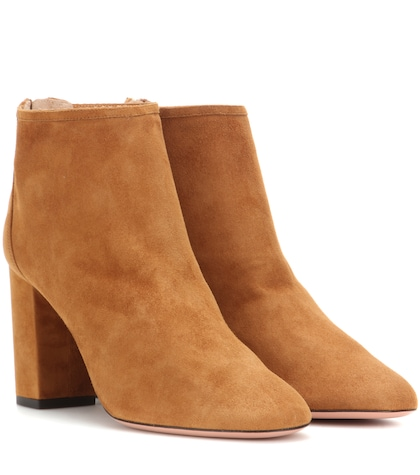aquazzura female downtown 85 suede ankle boots