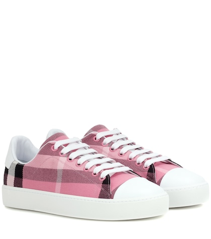 burberry female westford canvas sneakers