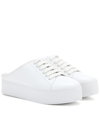 Cici Slide Leather Sneakers
