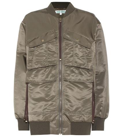 Appliqué bomber jacket